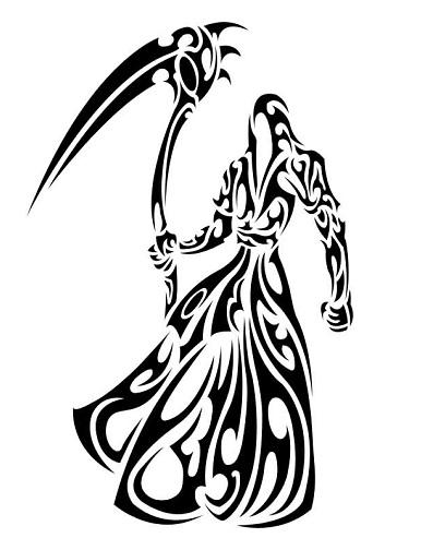 Tribal Monster Tattoo Design