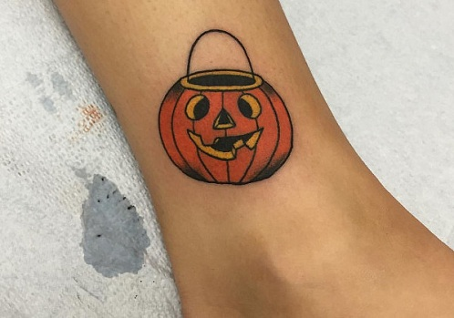 Unique Pumpkin Tattoo Design
