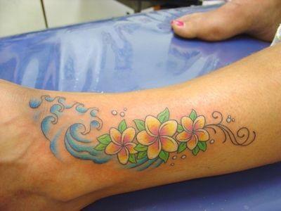 Wavevy Frangipani tattoo