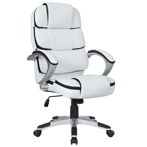 White and Black Computer Chair