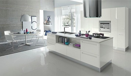 White hall kitchen Design
