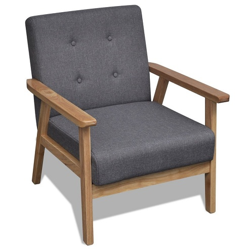 Wooden Border Arm Chair