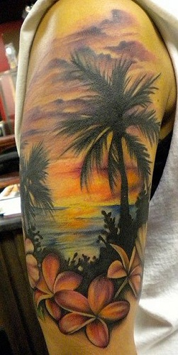 in Picture FramePlumeria Tattoo