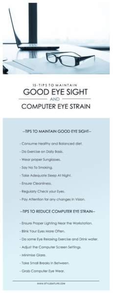 tips to maintain eye health