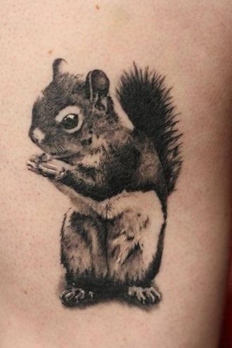 3D Pattern Squirrel Tattoo