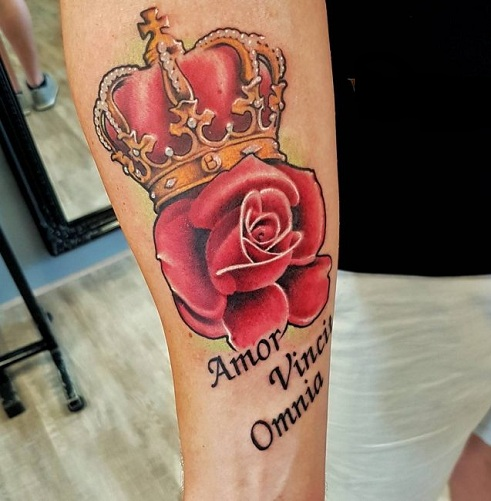 Appealing Queen Tattoo Design
