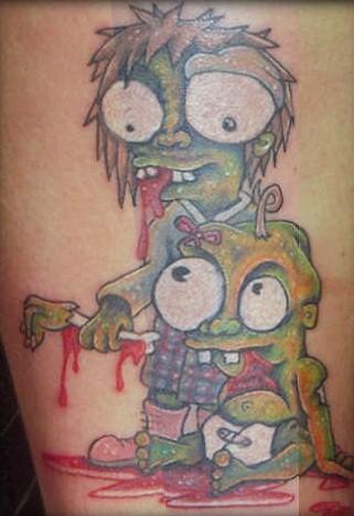 Appealing Zombie Tattoo Design