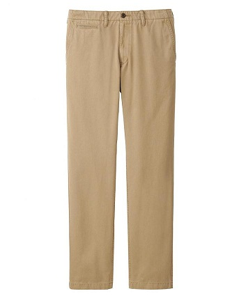 Athletic Fit Khaki Pants