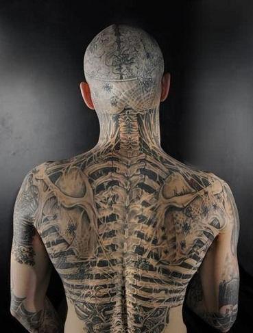 Back Skeleton Tattoo