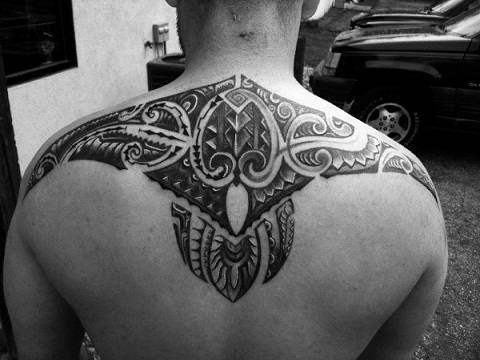 Back Piece Tribal Back Tattoo