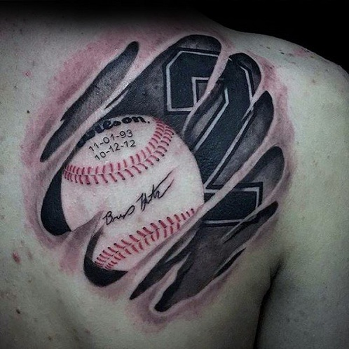 Base Ball Tattoo