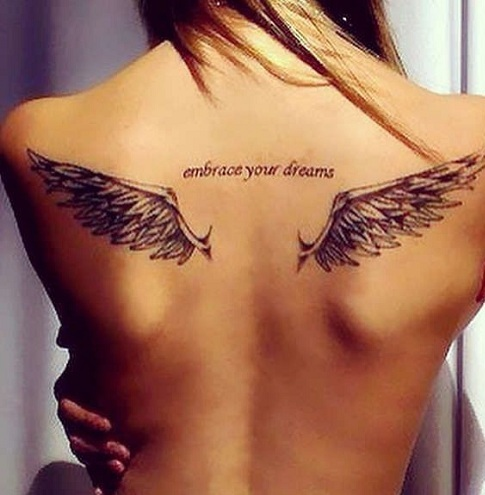 Black Swan Wings Tattoo Design