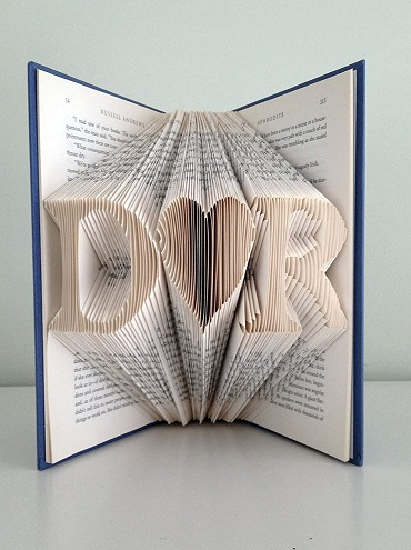 Make This Special Frame As A First Anniversary Gift For Wife The Is It Made From Folding Pages Of Book In Shape Initials