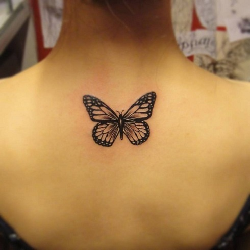 Butterfly Spine Tattoo