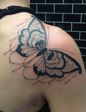 Butterfly Pattern Baroque Tattoo
