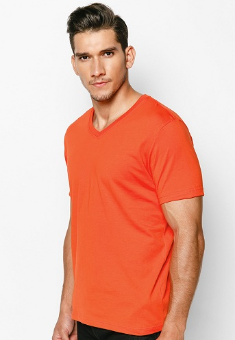 Casual Orange T-Shirt for Men