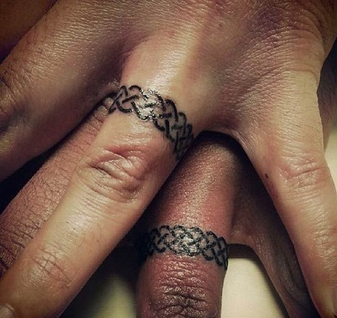 Celtic Knots Wedding Ring Tattoo Designs