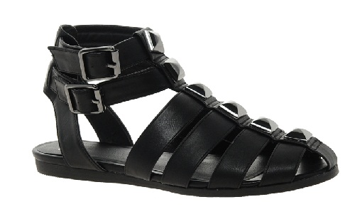 Closed Toe Flat Buckle Closure Synthetic Sandal for Men