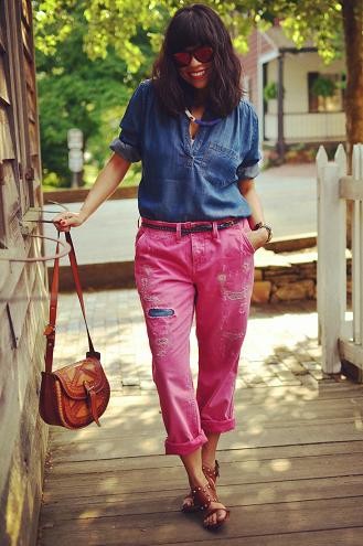 Colored Boyfriend Jeans