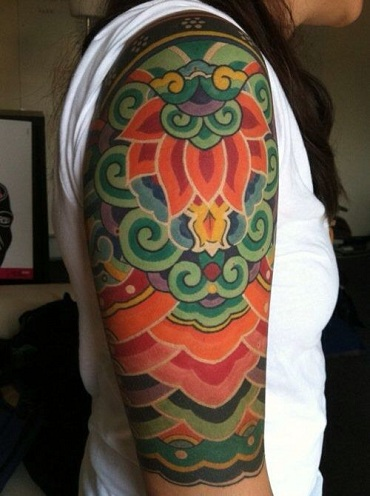 Colorful Tibetan Tattoo