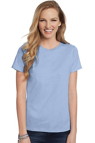 Comely Blue T-Shirt for Women