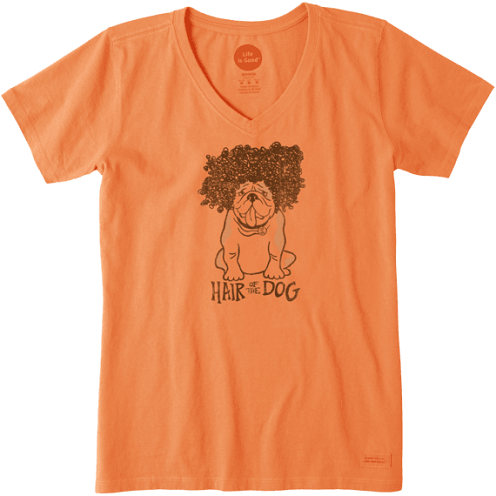 Comely Orange T-Shirt for Girls