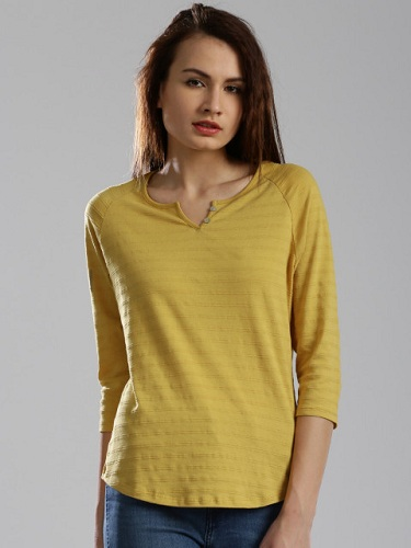 Comely Yellow T-Shirts for Females