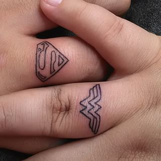 Couple Super Hero Tattoos