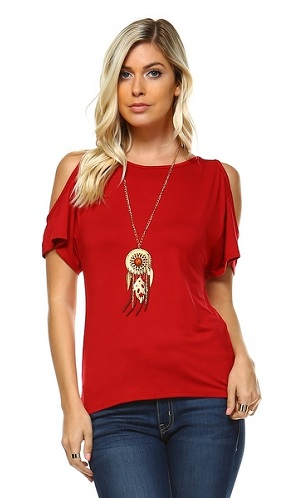 Cropped Sleeve T- Shirt for Women:
