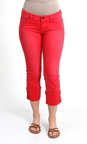 Cuffed Colored Jeans