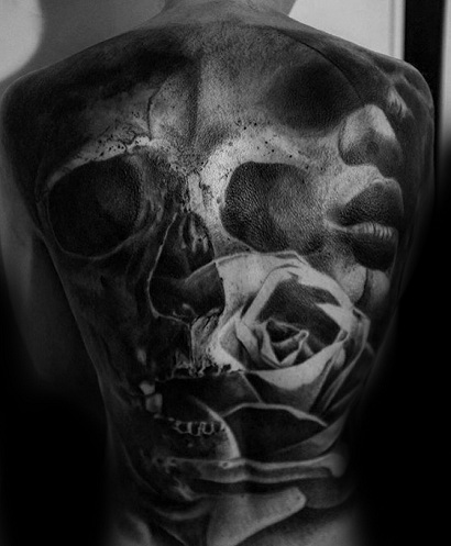 Death and Demon Surrealism Tattoo