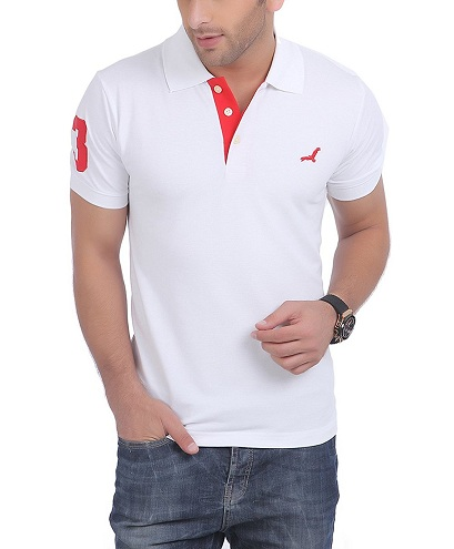 Distinct White T-Shirt for Men