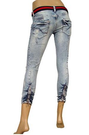 Distressed Capri jeans
