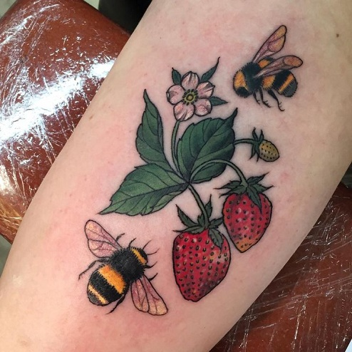 Double Strawberry Tattoo