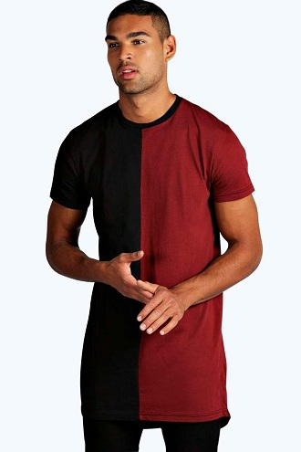 Dual Color Longline T-Shirt for Men