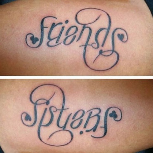 9 memorable script tattoo designs and ideas styles at life for Tattoos with hidden words