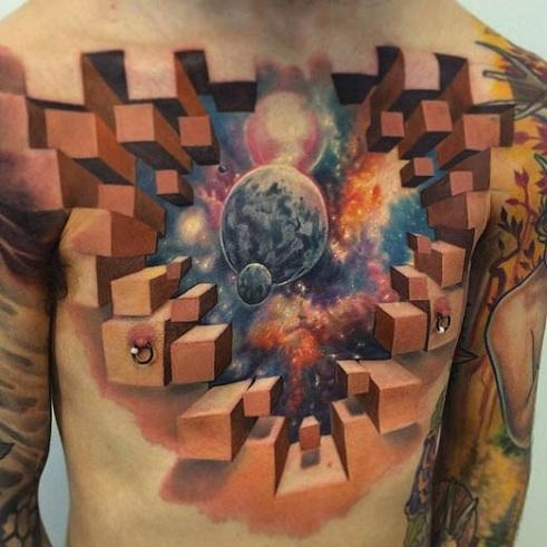 Epic Galaxy Tattoo