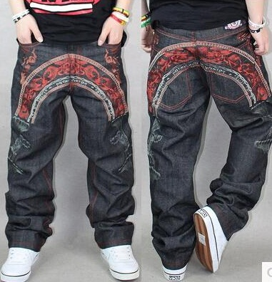 Exclusive Embroidered Hip Hop Jeans for Men