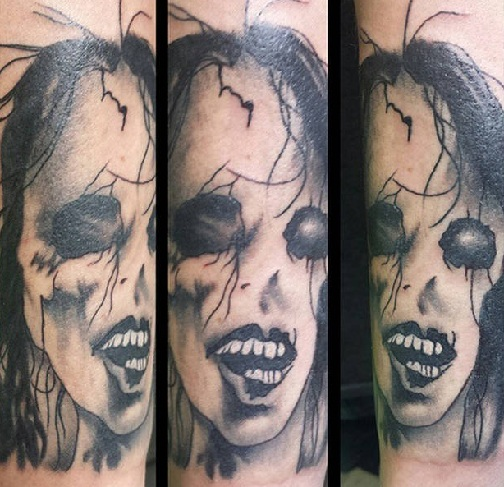 Face Pattern Scary Tattoo