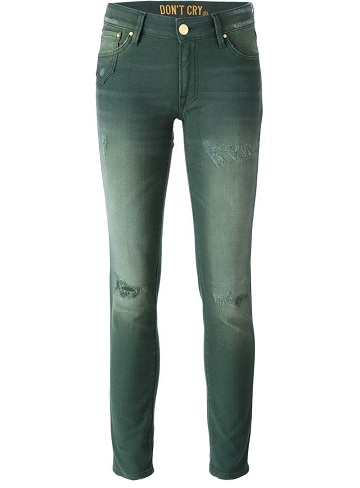 Faded Green Jeans
