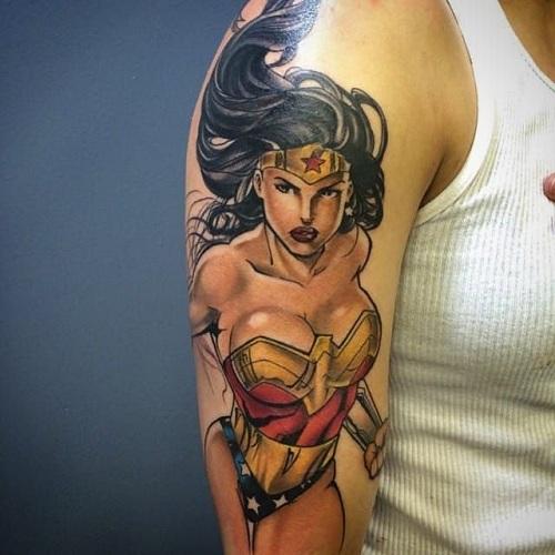 Feminine Superhero Tattoo