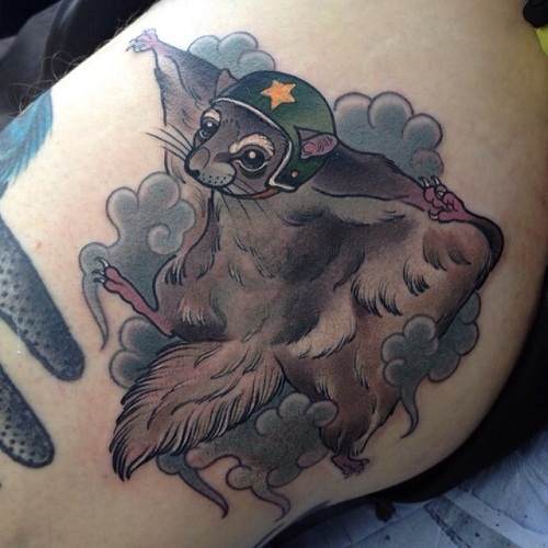 Flying Mode Squirrel Tattoo