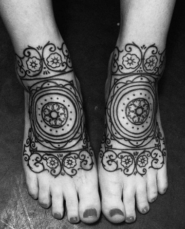 For Feet Baroque Tattoo