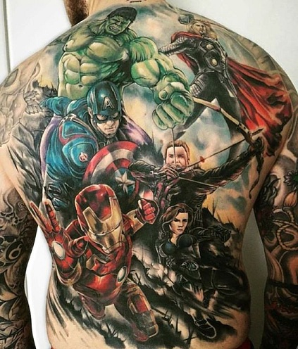 Full Body Superhero Tattoo