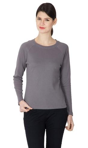 Full Sleeve Plain T-Shirt for Women