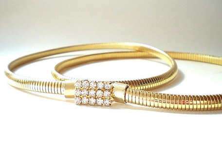 Gold Snake Stretch Belt