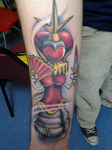 Gorgeous Red Queen Tattoo Design