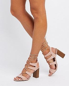 HIGH HEEL LACE UP SANDAL