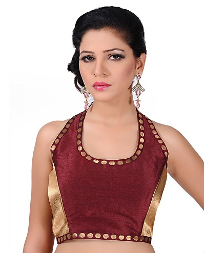 Halter Neck Saree Blouse Design