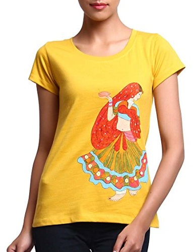 Heavenly Yellow T-Shirt for Women
